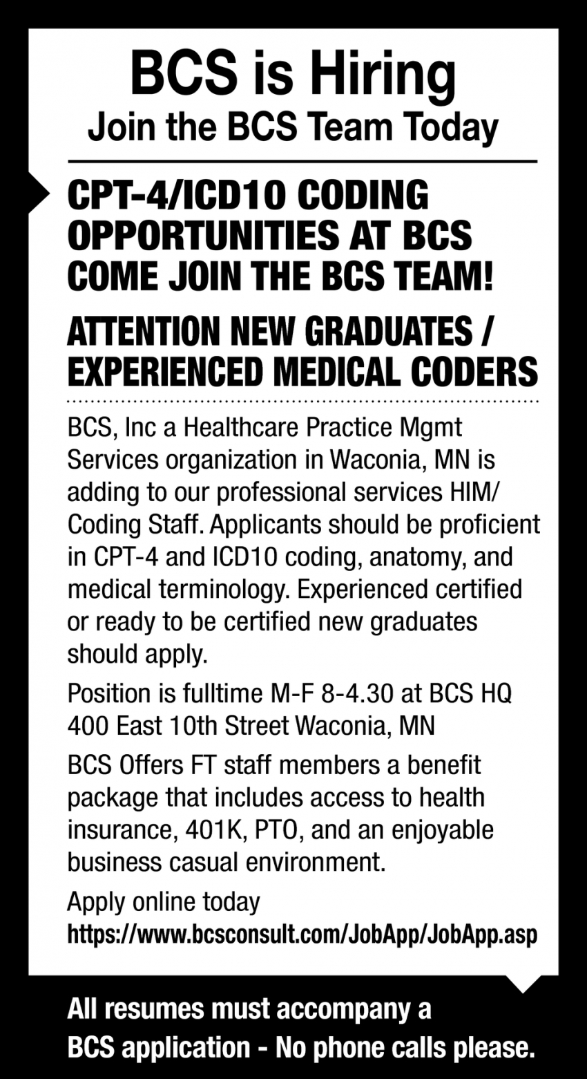 Coding Opportunities