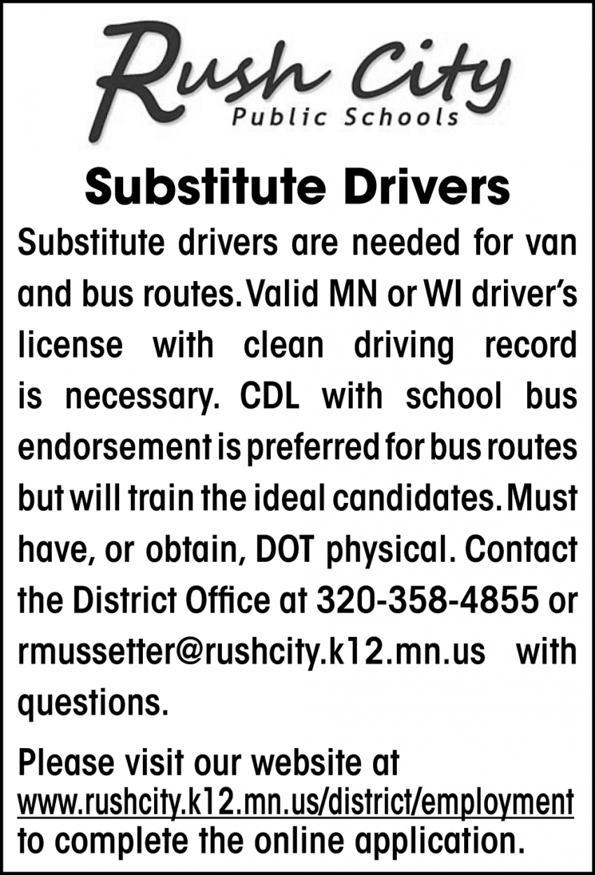 Substitute Drivers