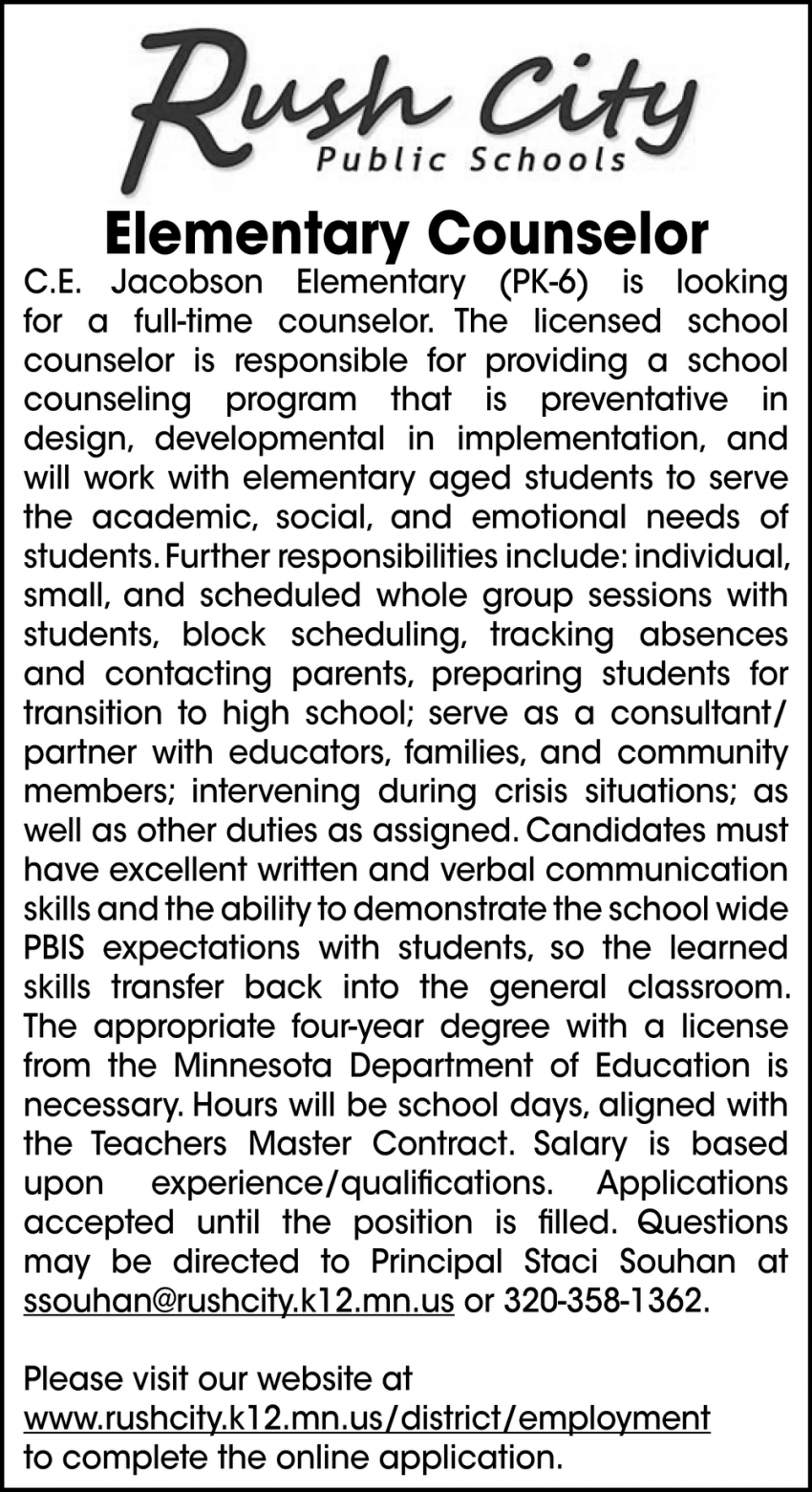 Elementary Counselor