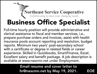 Business Office Specialist