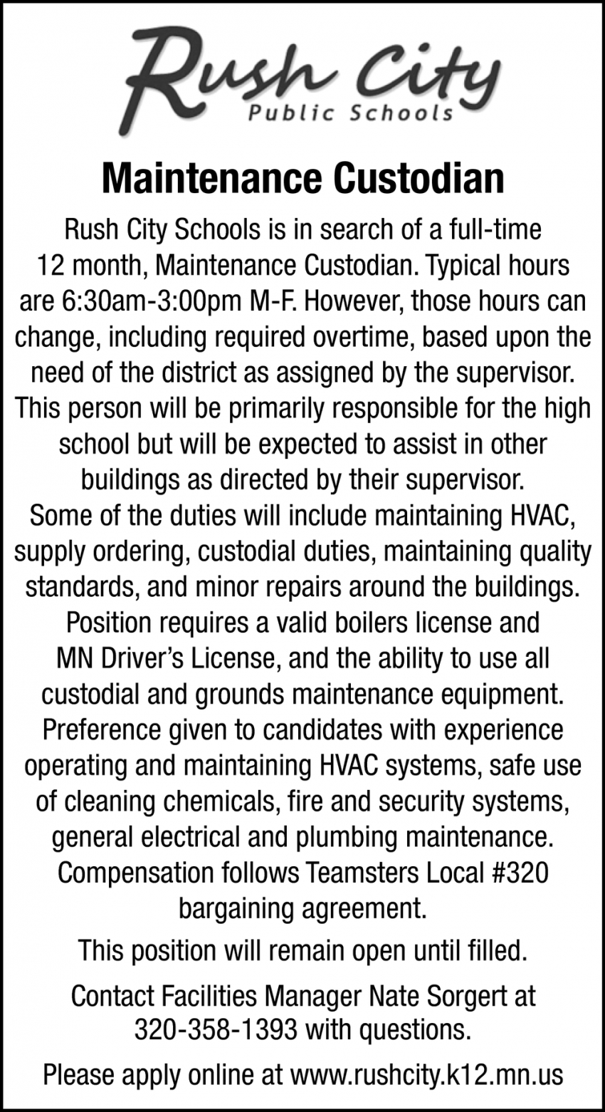 Maintenance Custodian