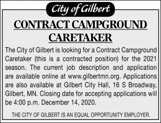 Contract Campground Caretaker