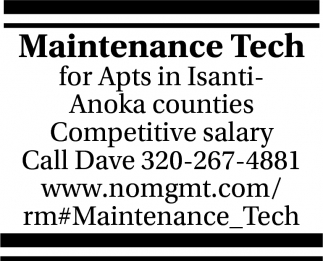 Maintenance Tech