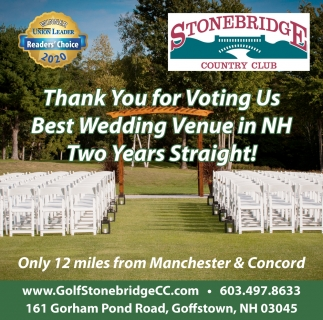 Thank You For Voting Us Best Wedding Venue In NH
