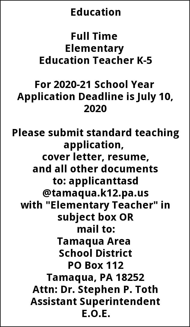 Elementary Education Teacher K-5