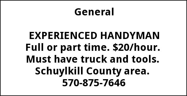 Experienced Handyman Needed
