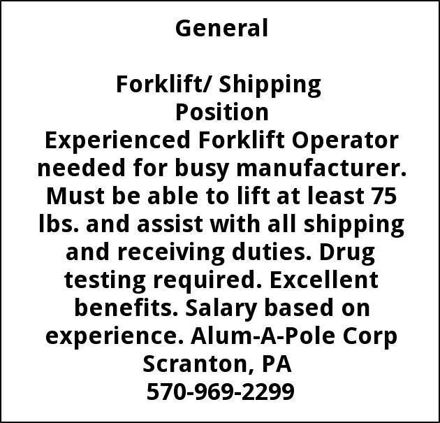 Forklift/Shipping  Position