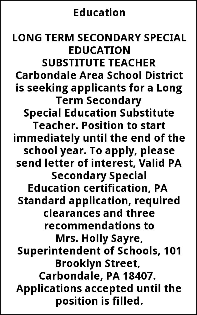 Long Term Secondary Special Education