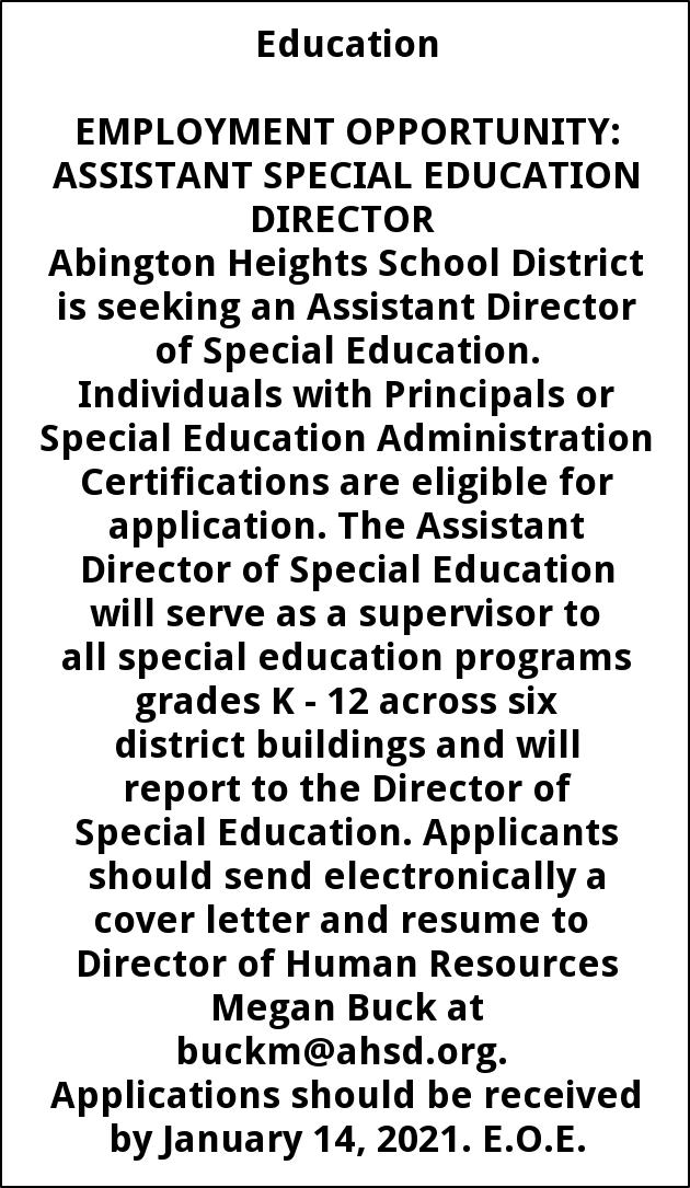 Assistant Special Education Director
