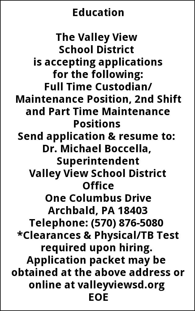 Custodian/Maintenance Position