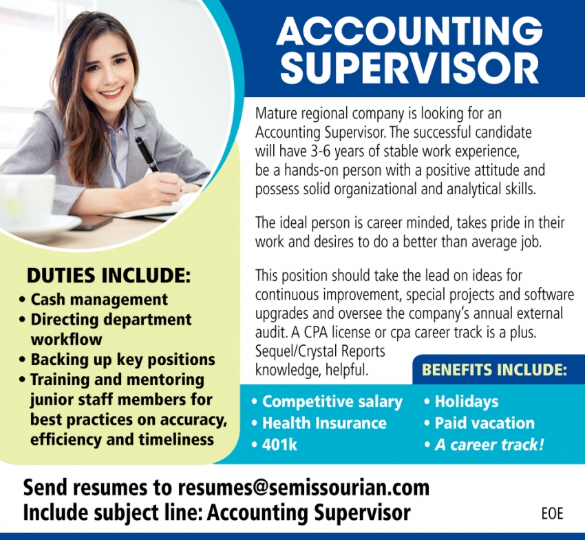 Accounting Supervisor