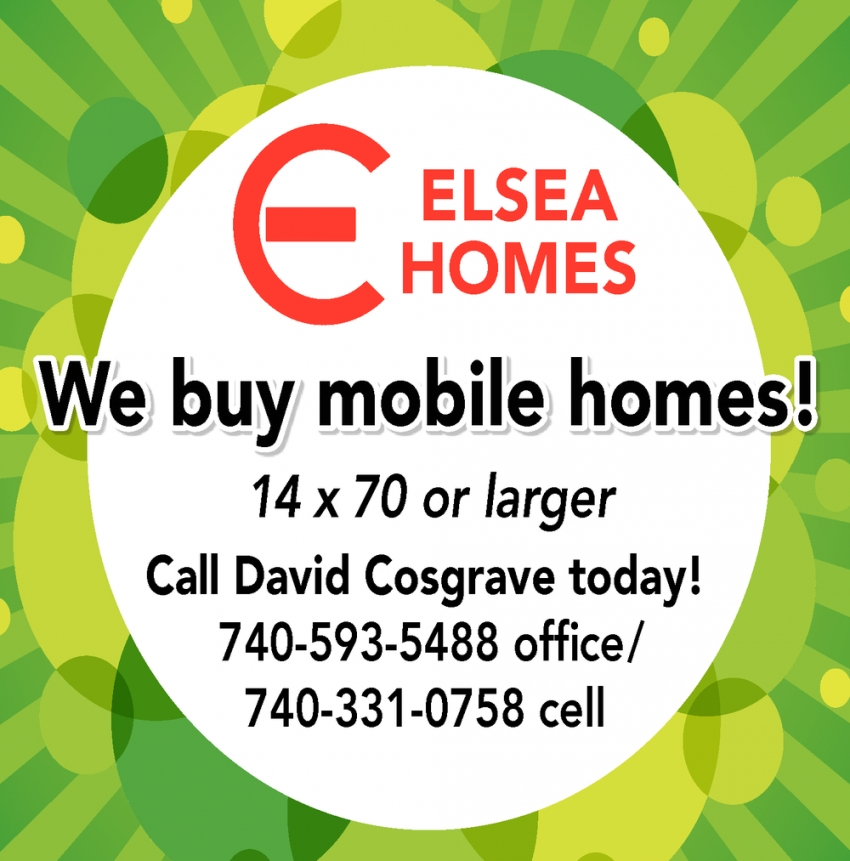 We Buy Mobile Homes!
