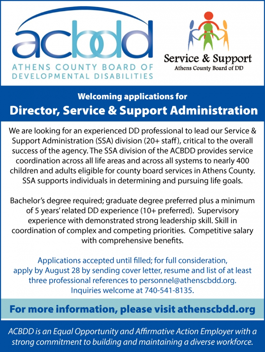 Director, Service & Support Administration