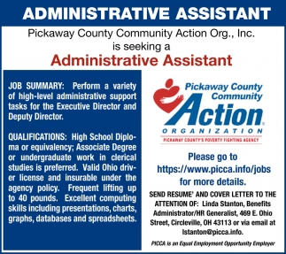 Administrative Assistant Needed