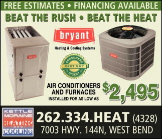 Beat The Rush Beat The Heat Kettle Moraine Heating Cooling
