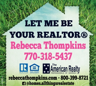 Let me be your realtor