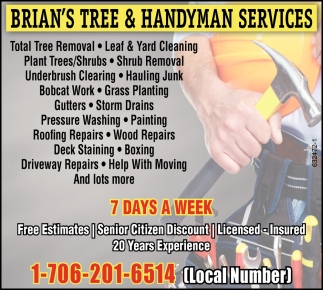 Tree Removal, Yard Cleaning, Shrub Removal, Bobcat Work