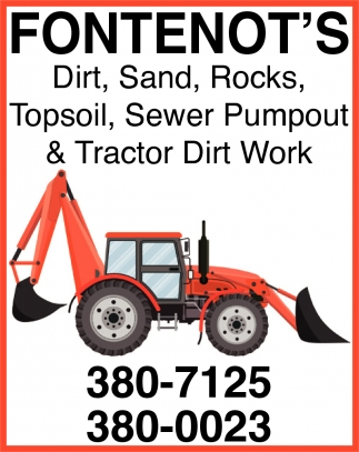 Sewer Pumpout & Tractor Dirt Work