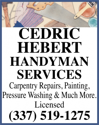 Carpentry Repairs, Painting & Much More