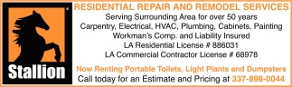 Residential Repair and Remodel Services