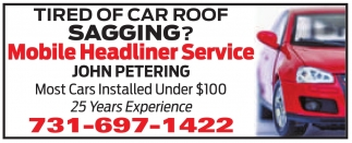 Tired Of Car Roof Sagging?