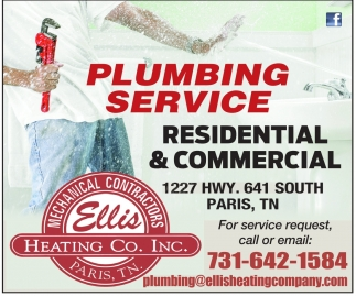 Plumbing Service Residential & Commercial