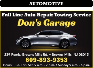Full Line Auto Repair Towing Service