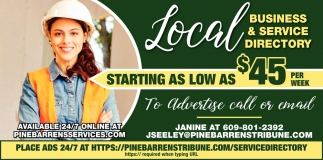 Local business & service directory starting as low as $45 per week