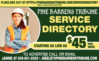 Service directory starting as low as $45 per week