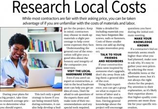Research Local Costs