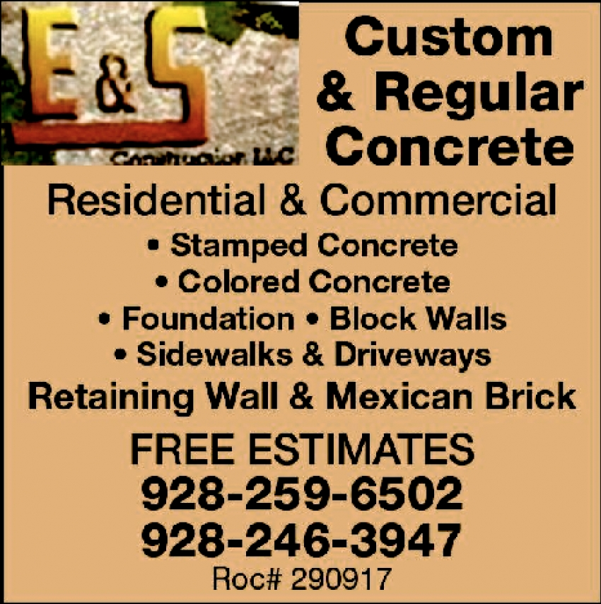 Custom & Regular Concrete