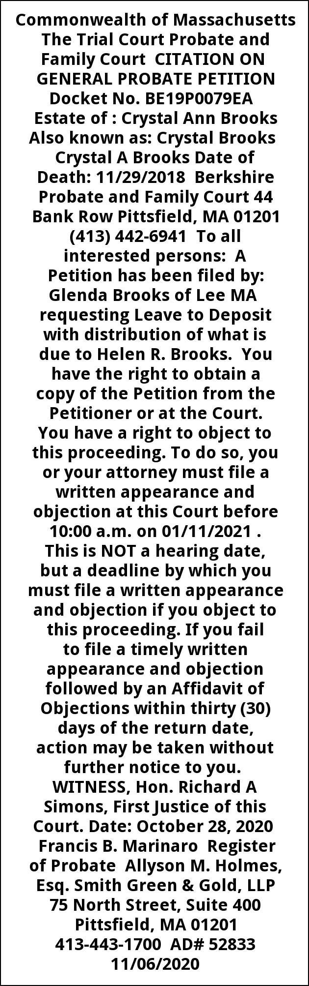 Citation On General Probate Petition