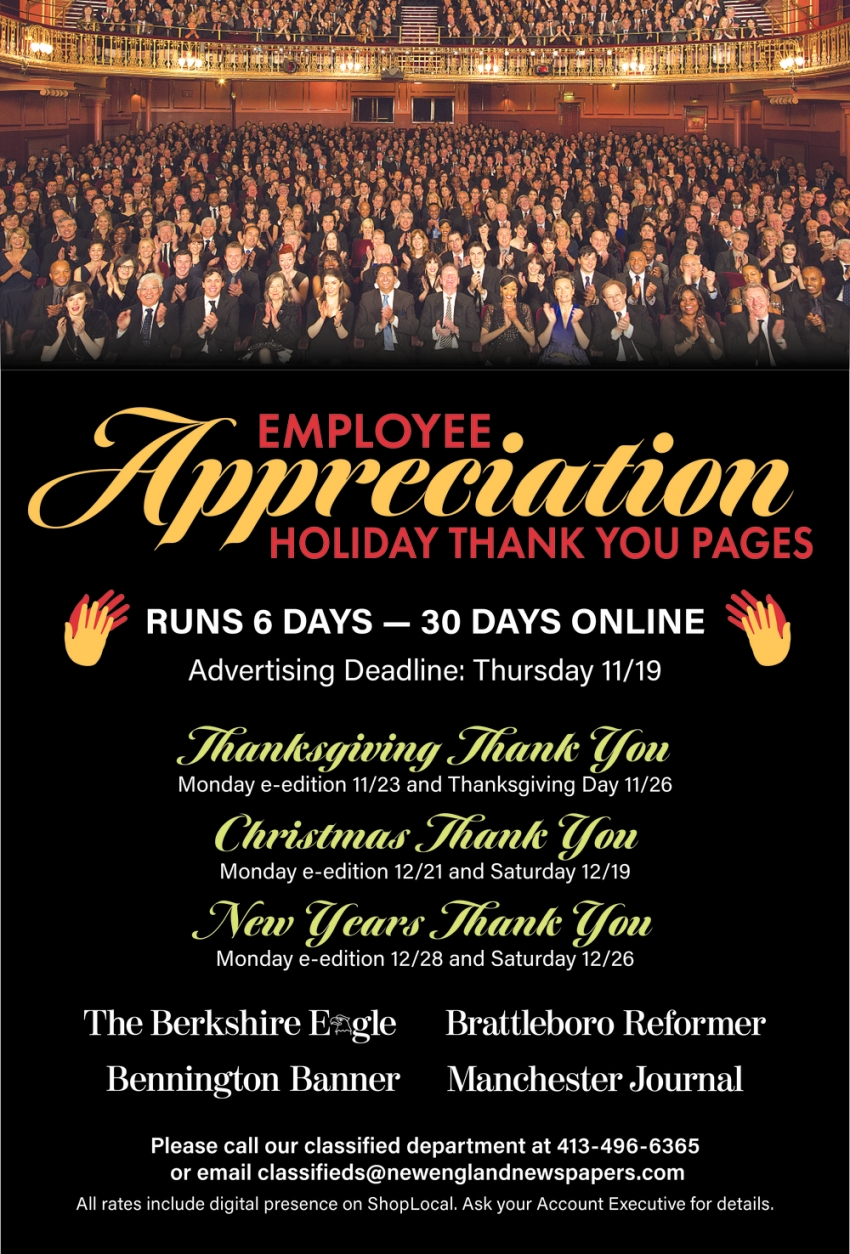 Employee Apprciation Holiday Thank You Pages