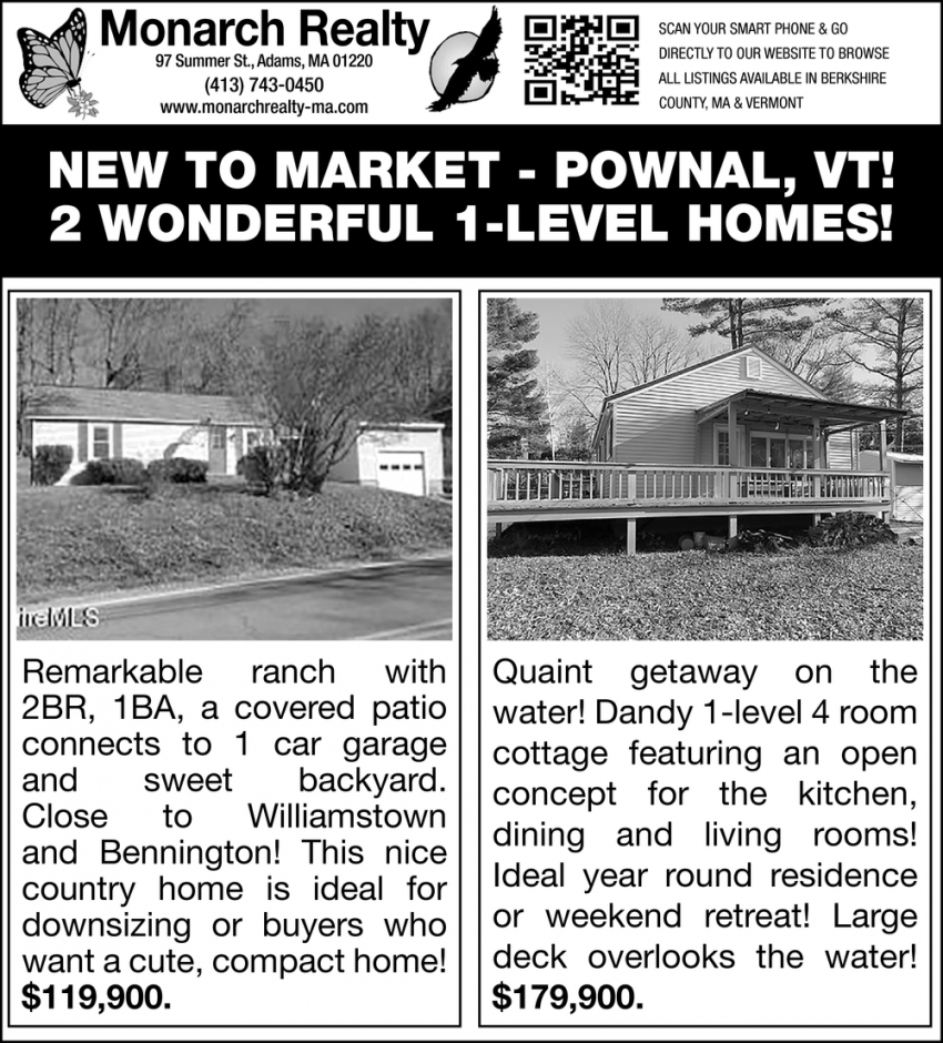 2 Wonderful 1-Level Homes!