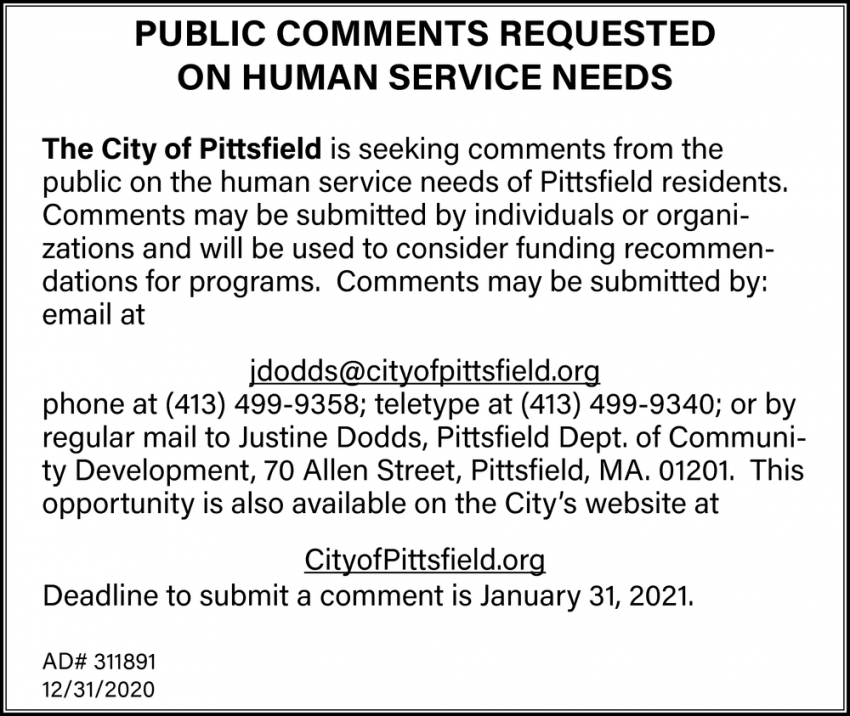Public Comments Requested