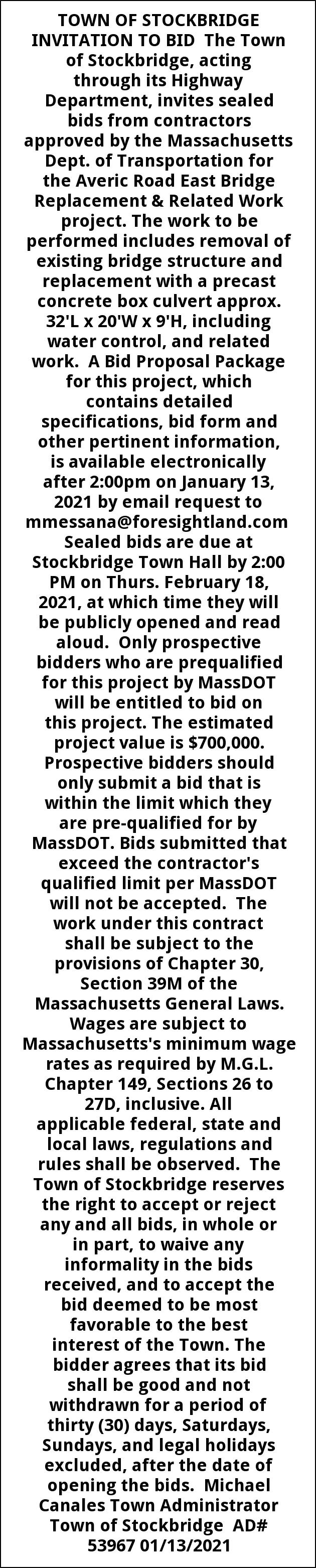 Sealed Bids From Contractors