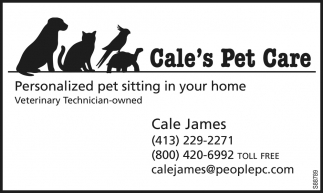 Personalized Pet Sitting In Your home