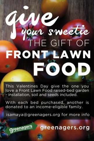 The Gift Of Front Lawn Food
