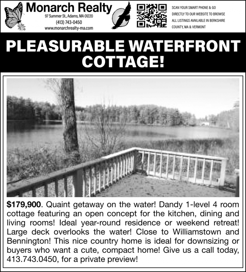 Pleasurable Waterefront Cottage!