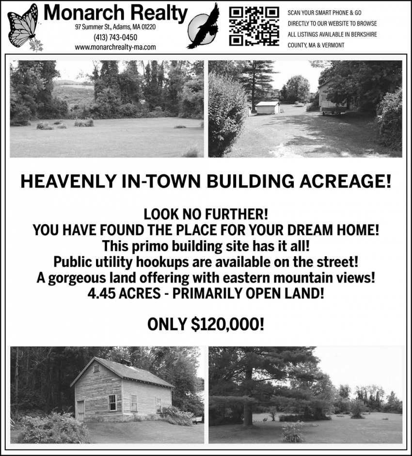 Heavenly In-Town Building Acreage