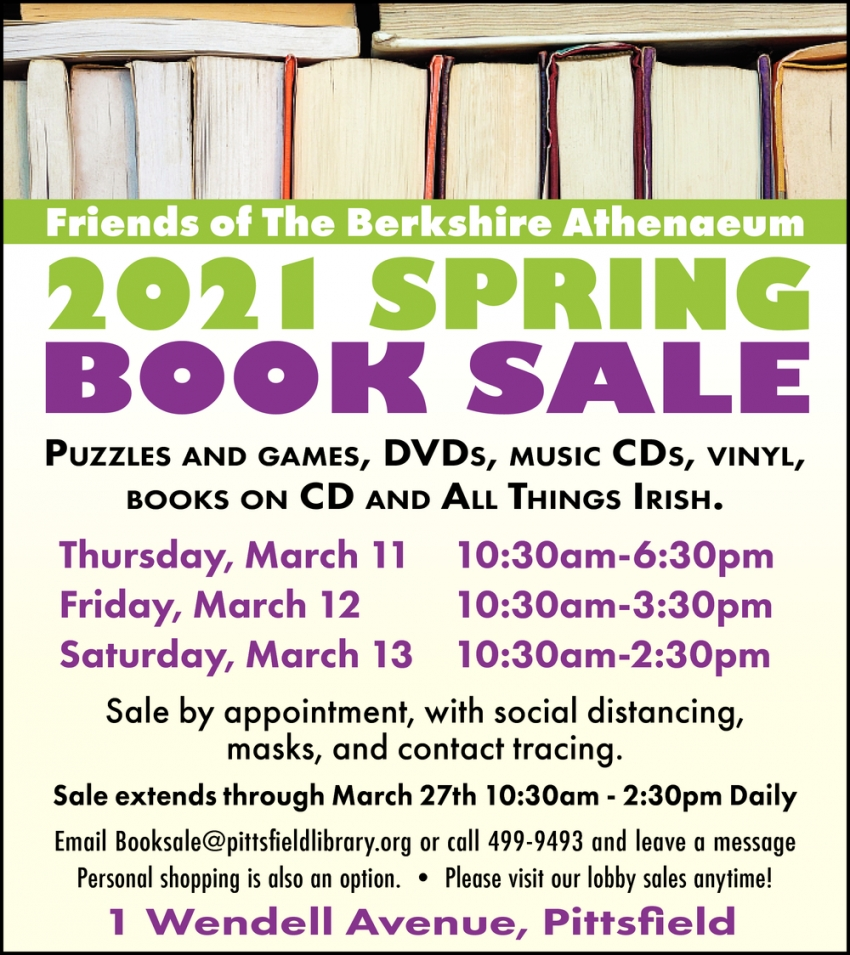 2021 Spring Book Sale