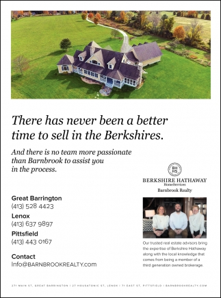 There Has Never Been a Better Time To Sell In The Berkshires