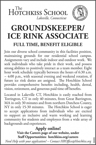 Groundskeeper/Ice Rink Associate