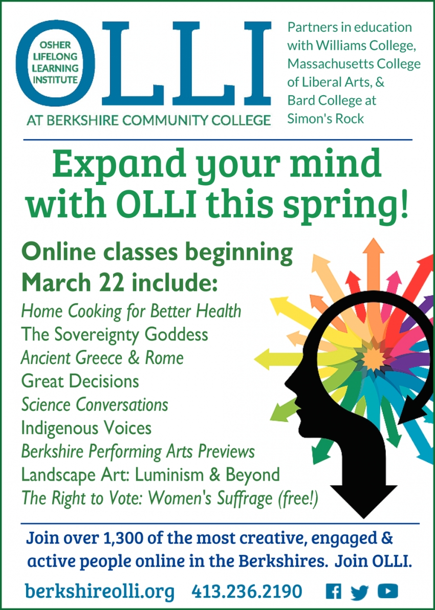Expand Your Mind With OLLI This Spring