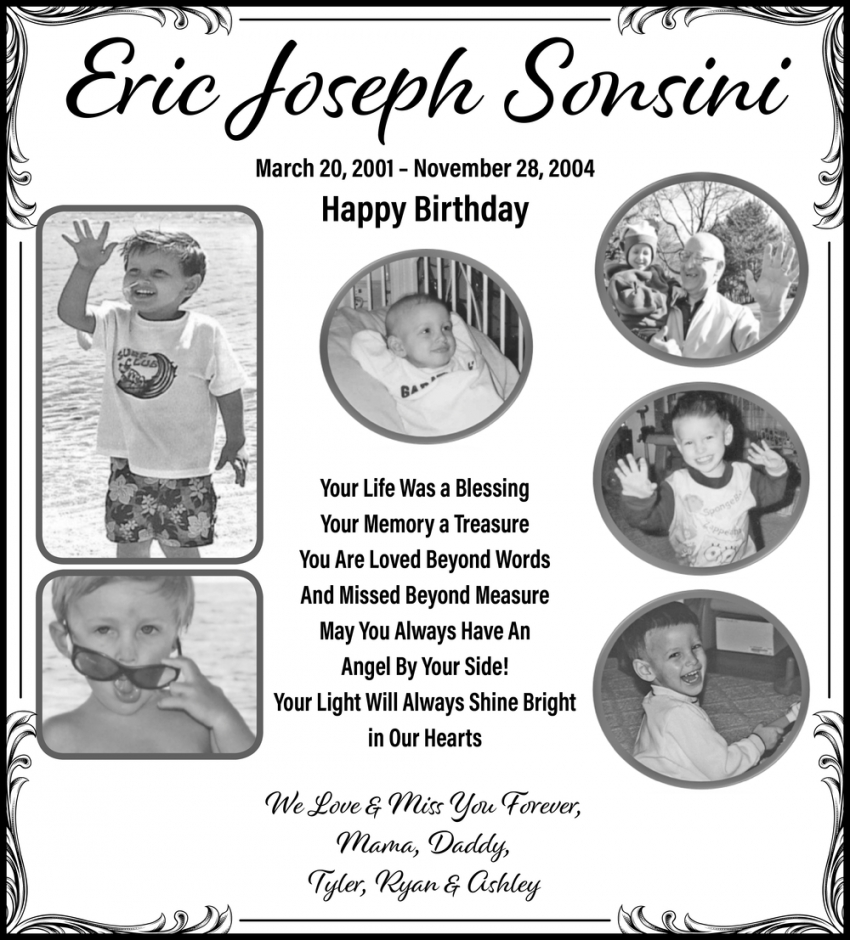In Loving Memory Of Eric Joseph Sonsini