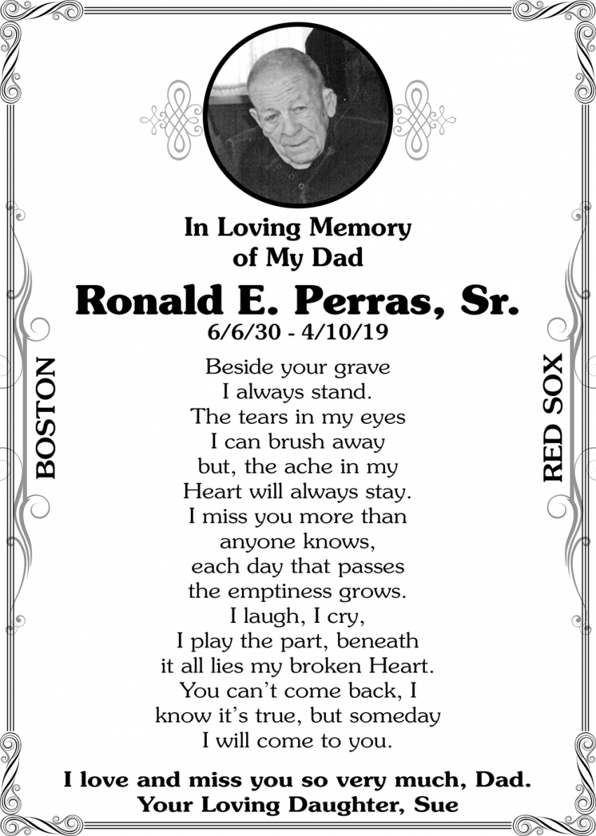 In Loving Memory Of Ronald E. Perras, Sr