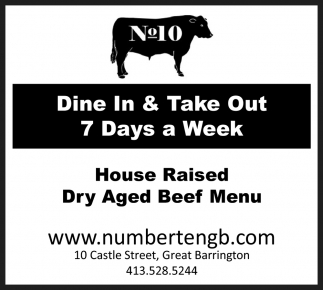 Dine In & Take Out 7 Days a Week