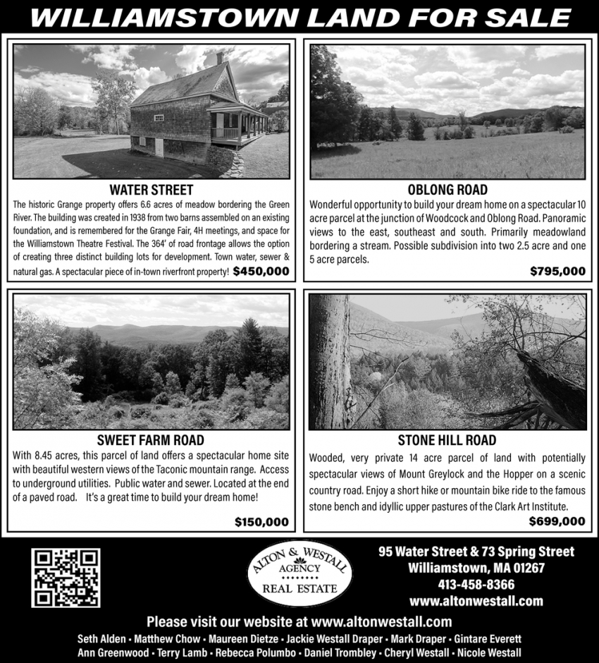Williamstown Land For Sale