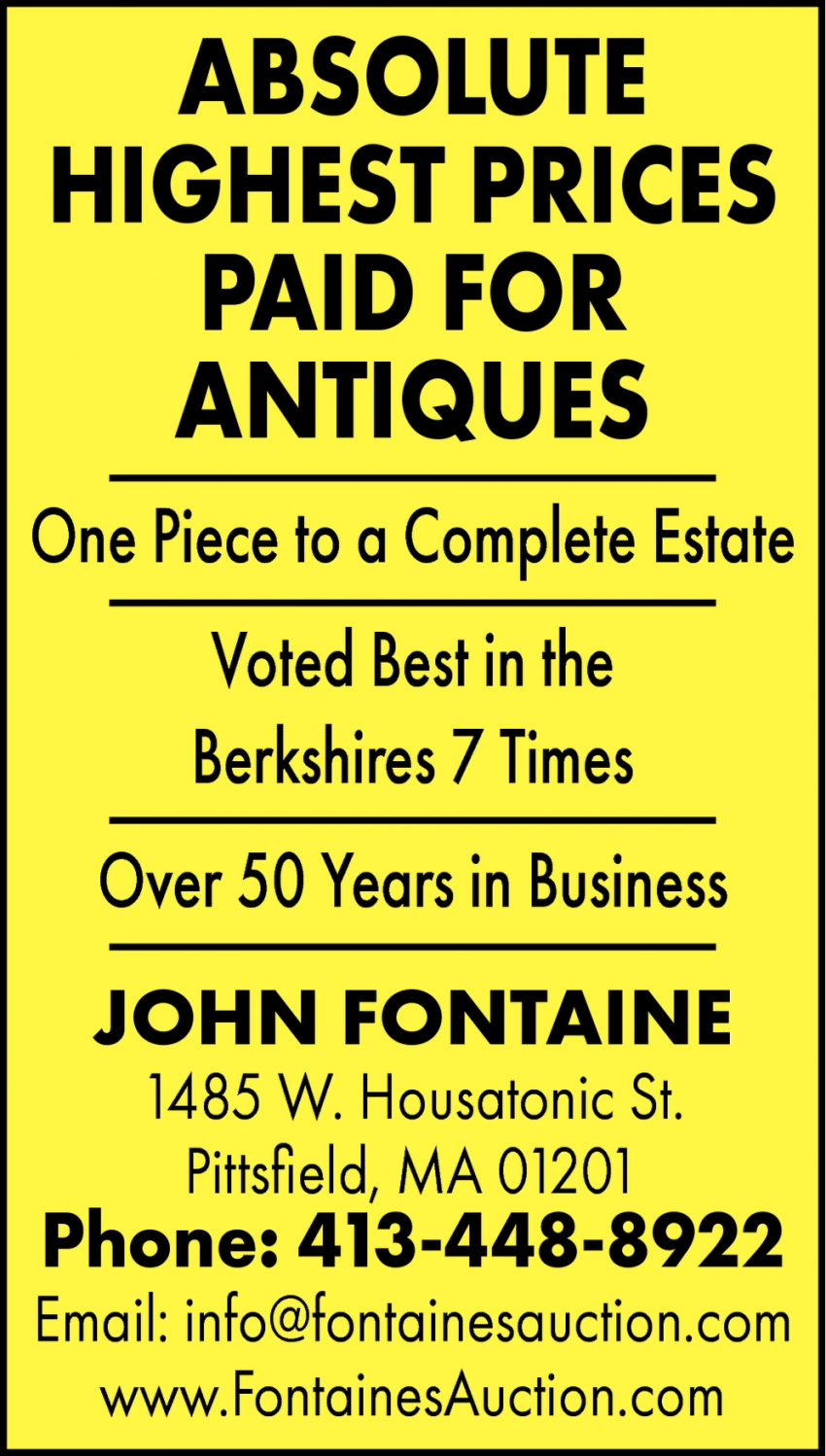 Absolute Highest Prices Paid for Antiques