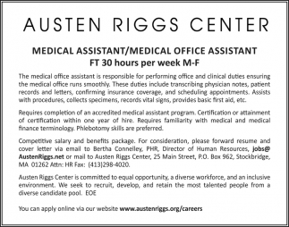 Medical Assistant/Medical Office Assistant
